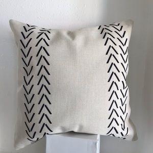 Cream Bohemian Chevron Stripe Cotton Throw Pillow